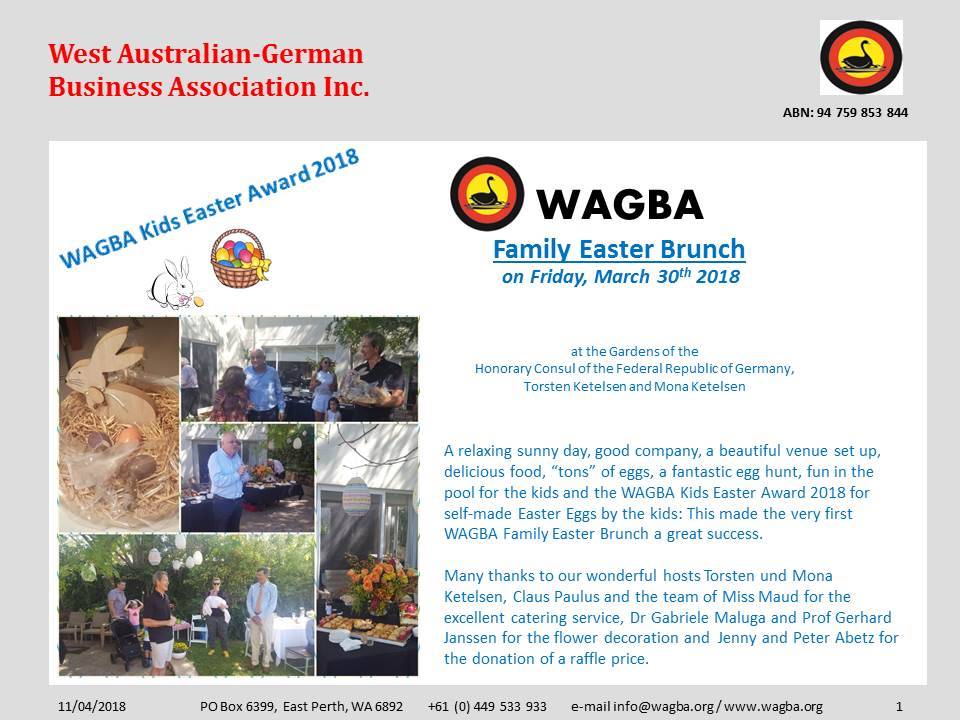 2018 03 30 WAGBA Family Easter Brunch 2018 1